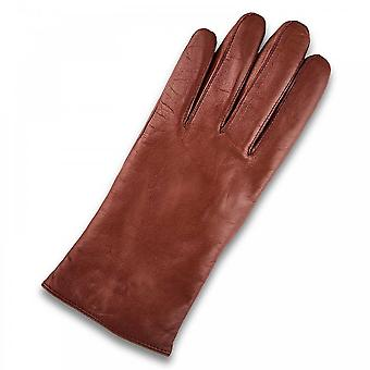 Borjesson Ladies Soft Brown Leather Gloves