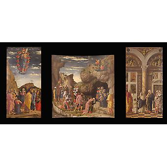 Triptych, Andrea Mantegna, 80x40cm
