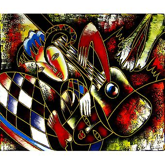 Astratto, pittura ad olio su tela, 50x60 cm
