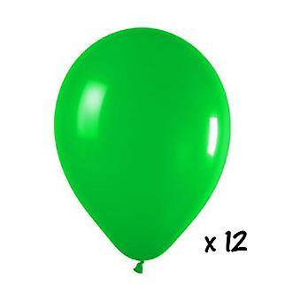 Globo y globo accesorios 12 verde los globos