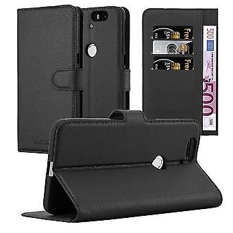 Cadorabo tilfældet for Huawei NEXUS 6P sag Cover-telefon tilfældet med magnetisk lukning, stativ funktion og kort case rum-sag Cover sag sag case sag bog folde stil