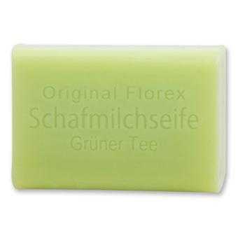 Florex Schafmilchseife - Grüner Tee - süßer leicht frischer Duft lädt zum Entspannen ein 100 g