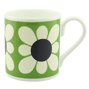 Orla Kiely Square Daisy Flower Green Mug