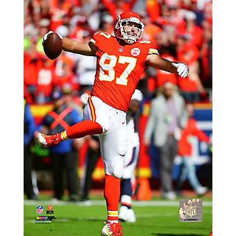 Travis Kelce 2018 Action Photo Print