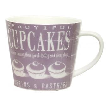 ECP Mug CRK05ZF Purple With Cupcake Design