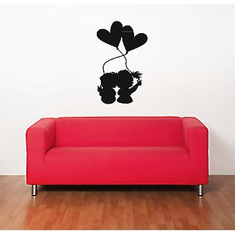 Cute Young Lovers Wall Sticker