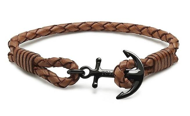 Tom Hope Oxford Brown Leather Small Bracelet TM0252