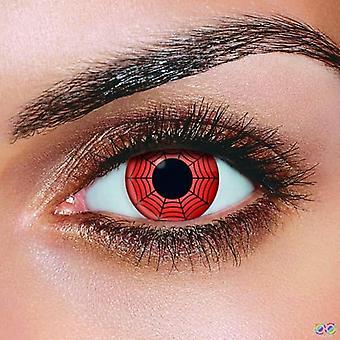 Lentile de contact web roșii (pereche)