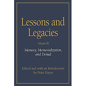 Lektioner och arv: minne, minnessidor och förnekande v. 3