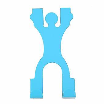 TRIXES синий человек силуэт металла двери крюк из нержавеющей стали экономия пространства висит хранения помощи