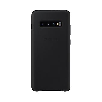 Samsung leather cover black for Samsung Galaxy S10 G973 EF VG973LBEGWW bag case protective cover