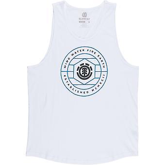 T-shirt sans manches Element Swivel en blanc optique