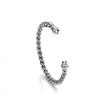 Cavendish franske sølv reb Twist Cuff armbånd