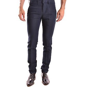 Dondup Ezbc051036 Men's Blue Cotton Pants