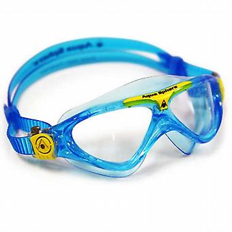 Aqua Sphere Vista Junior Swim Goggle - Clear Lens - Blue/Yellow Accent