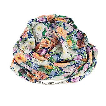 Eternal Collection Summer Bouquet Liberty Print Pure Satin Silk Infinity Scarf