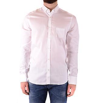 Neil Barrett Ezbc058068 Männer's weißes Baumwollhemd