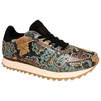 Woden Ethical Fish Leather Snake Skin Trainer