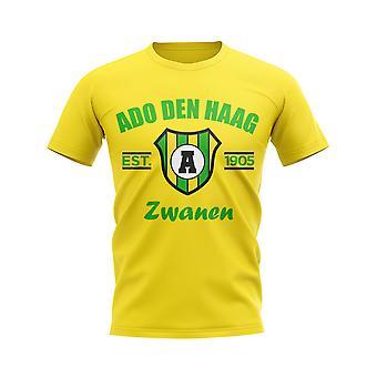 ADO Den Haag perustettiin jalka pallo T-paita (keltainen)