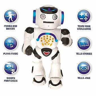 Lexibook Powerman Walking Talking Toy Educational Robot - Black/White (ROB50EN)