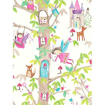 Woodland Favole Glitter Wallpaper Arthouse