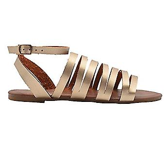 Via Rosa Ladies Fashion Sandals Strappy Metallic Slingback Ankle Summer Flats