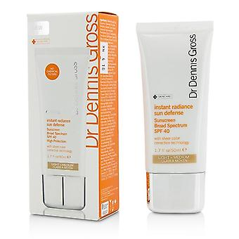 Dr Dennis Gross Instant Radiance Sun Defense Sunscreen Spf 40 - Light-medium - 50ml/1.7oz
