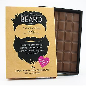 Funny Valentine ' s dzień prezent dla Brodaty mężczyźni Beard Lover prezent czekolada powitanie karty BTQ123
