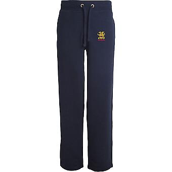 Buffs Veteran - Licensed British Army Embroidered Open Hem Sweatpants / Jogging Bottoms