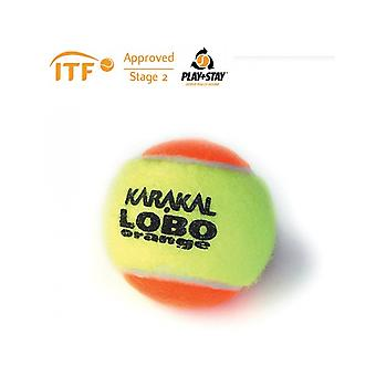 Karakal LoBo Orange Tennis ITF Approved Low Pressure & Bounce Ball - 1 Dozen