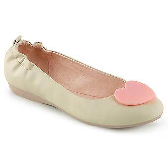 Pin Women's Shoes Up Cream Faux Leather
