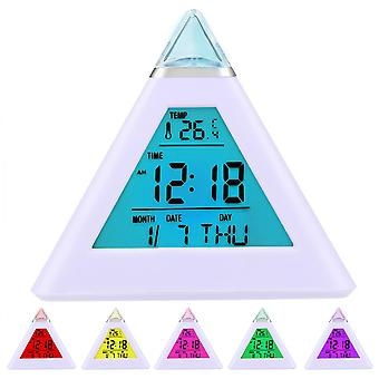 Digiflex 7 LED Pyramid Colour Changing Digital väckarklocka