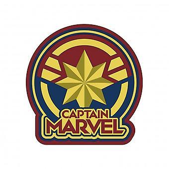 Magneet-soft touch PVC-Marvel-Captain Marvel logo nieuwe 69064