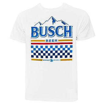 Busch White Racing Tee Shirt