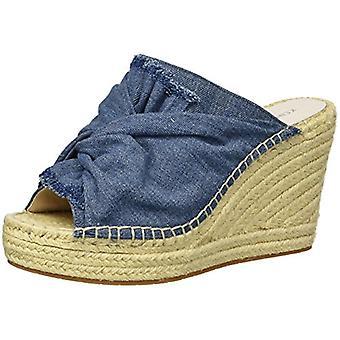 Kenneth Cole New York Women's Odelle 2 Slip On Wedge Espadrille Sandal, Blue ...