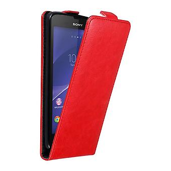 Cadorabo Case for Sony Xperia T3 Case Cover - Phone Case in Flip Design with Magnetic Closure - Case Cover Case Case Case Case Book Folding Style