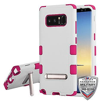 MYBAT Natural Cream White/Hot Pink TUFF Hybrid Protector Cover (w/ Stand) pour Galaxy Note 8