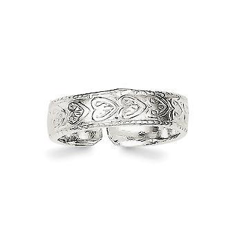 925 Sterling Silber solid Toe Ring Schmuck Geschenke für Frauen - 2,0 Gramm