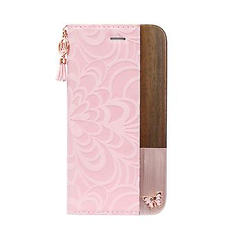 Stylish Folio Pink Butterfly iPhone 8 / 7 / 6 Case