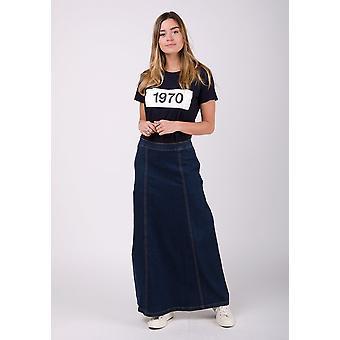 Matilda denim maxi skirt - dark wash