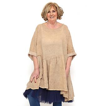 Made In Italy Lanton Washed Linen Dress