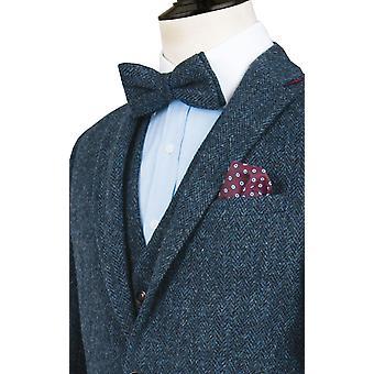 Schottische Harris Tweed Herren blau Anzug regelmäßige Pass 100 % Wolle Fischgrät