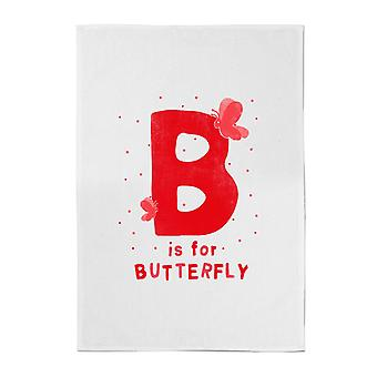B Is For Butterfly Cotton Tea Towel