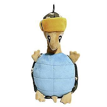 Bois de rose tissu et ondulée Multi Squeak tortue qualité chien Toy, 33 cm