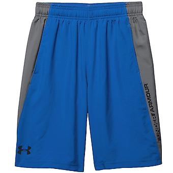 Under Armour Boys Skill Woven Sports Training Gym Active Shorts Bottoms - Blue