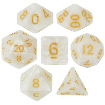 7 Die Polyhedral Dice Set w Velvet Euch-Forbidden Treasure