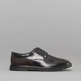Silver Street London Ruskin Mens Leather Derby Shoes Oxblood