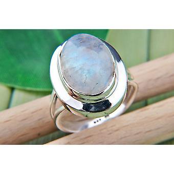 Mondstein Ring 925 Silber Sterlingsilber Damenring weiß (MRI 91-04)