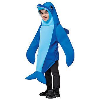 Dolphin Sea Creatures Aquatic Mammal Blue Fish Toddler Girls Boys Costume 3-4T