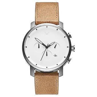 MVMT Chrono White Caramel Men's Watch wristwatch leather MC01-WT